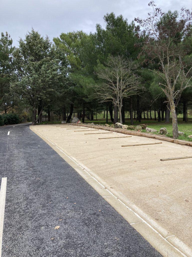 Photo des travaux en cours ancien chemin du stade