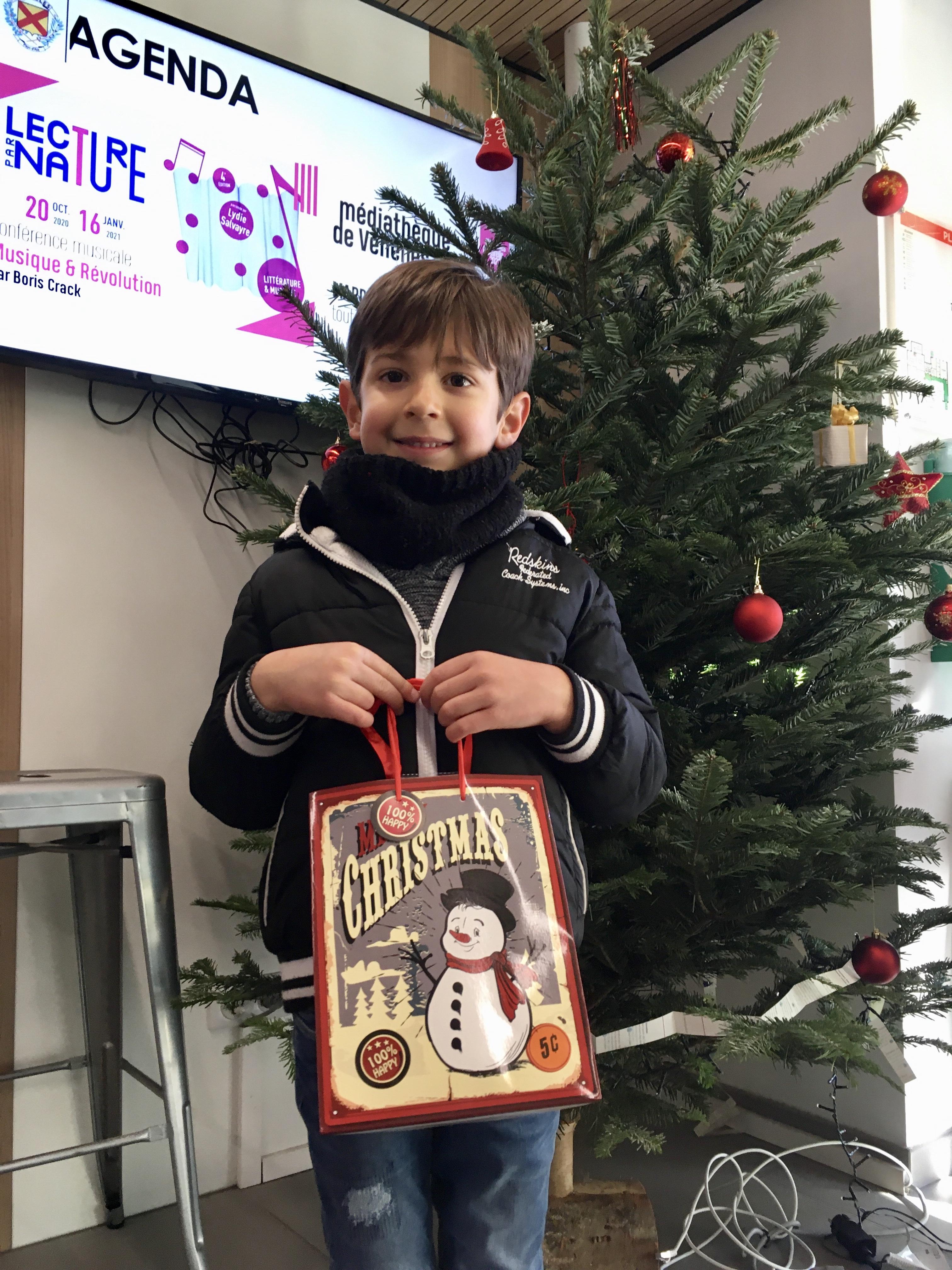 Photo de l'un des gagnants du rallye de Noël