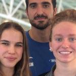 Photo de l'équipe du Pays d'Aix Natation en nage avec palme ayant battu un nouveau record de France en relais