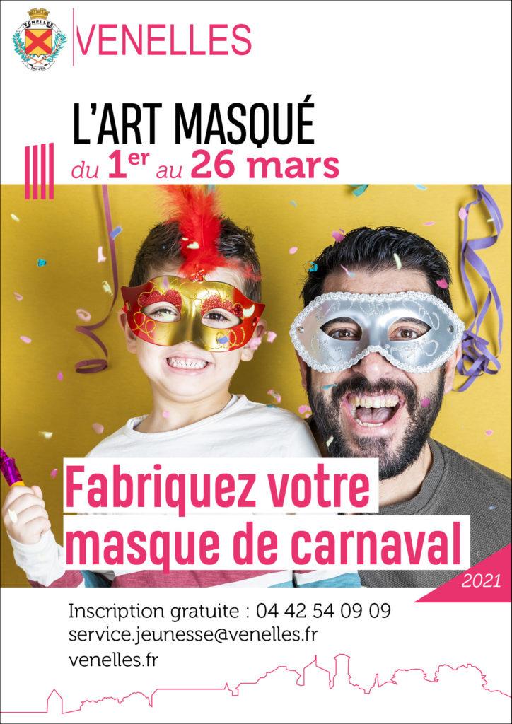 Affiche L'art masqué du service jeunesse - mars 2021