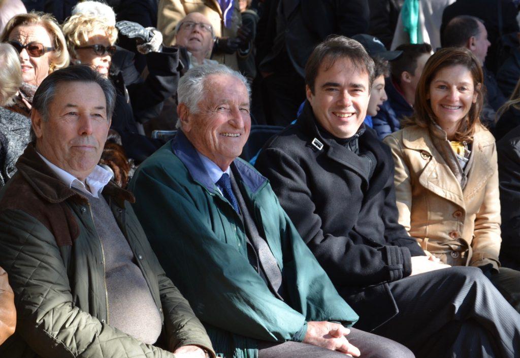 Photo de Maurice Daugé en compagnie d'Arnaud Mercier, Maire de Venelles et d'Alain Quaranta, élu de la majorité