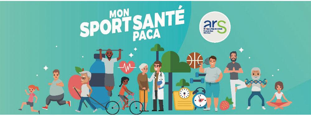illustration montrant les personnes de différents âges en train de faire du sport pour marquer le sport santé
