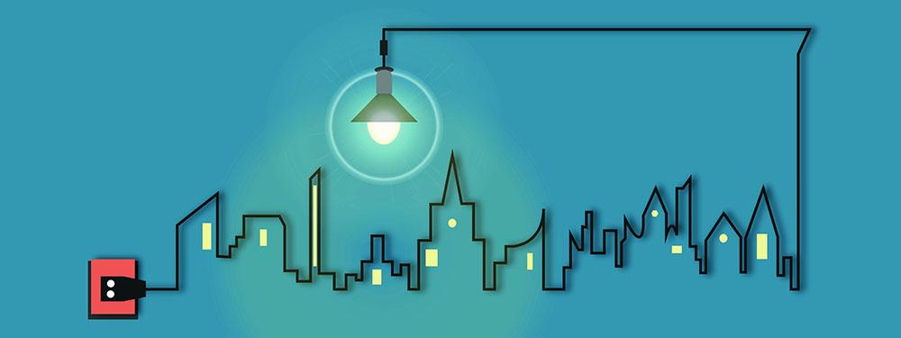 Illustration représentant l'éclairage intelligent