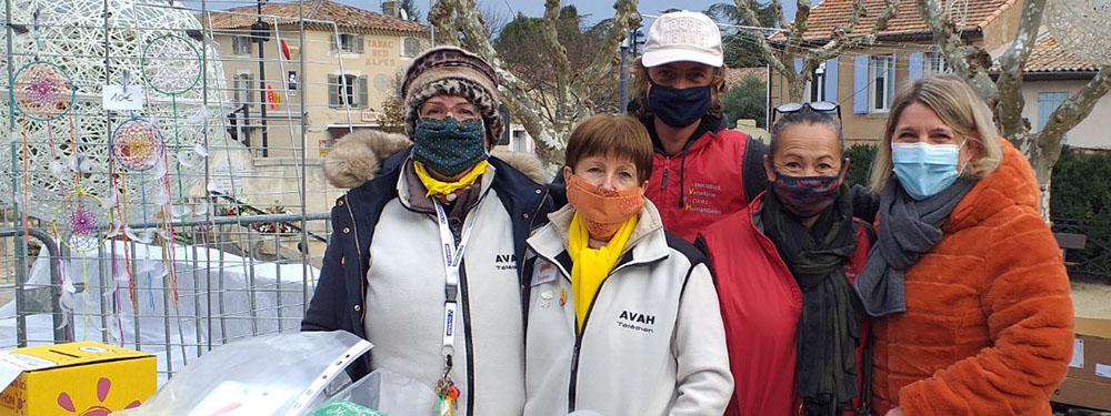 Photo de l'équipe de l'AVAH pour le Téléthon