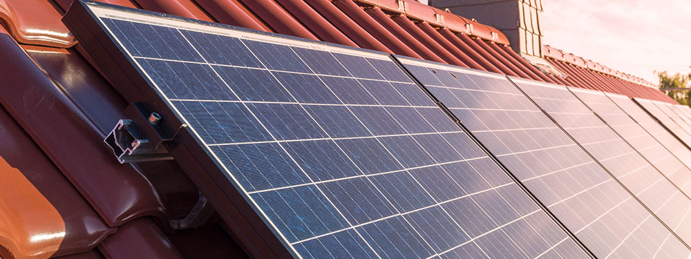 Photo de panneaux photovoltaïques