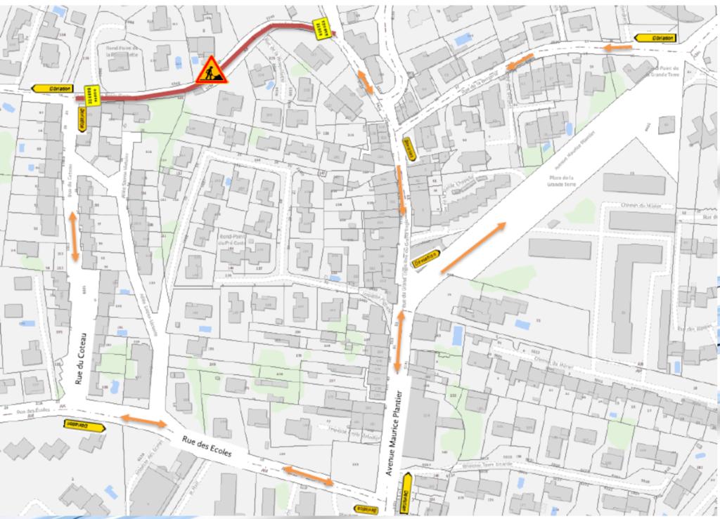 Plan de déviation des travaux de la REPA chemin de la Resquillette