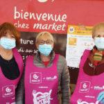 Photo de l'équipe de l'AVAH lors de la collecte en faveur des restos du cœur