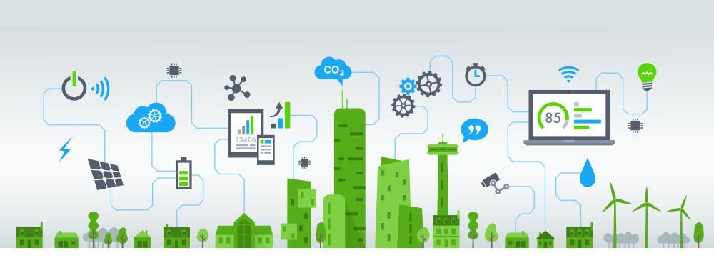 Illustration d'une ville smart City