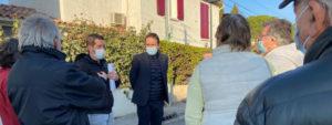 Photo d'une réunion de quartier rue des Isnards