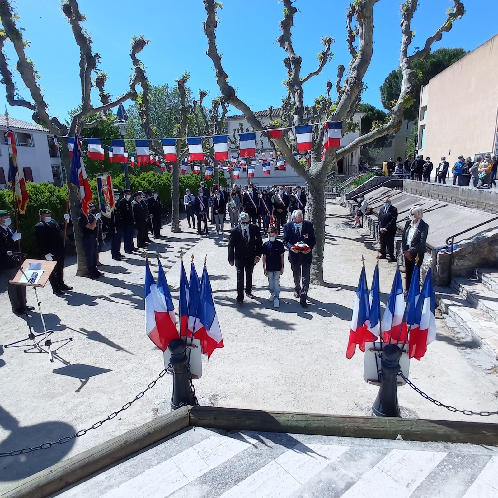 Photo de la cérémonie du 8 mai