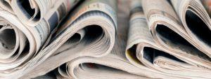 Photo de journaux pliés
