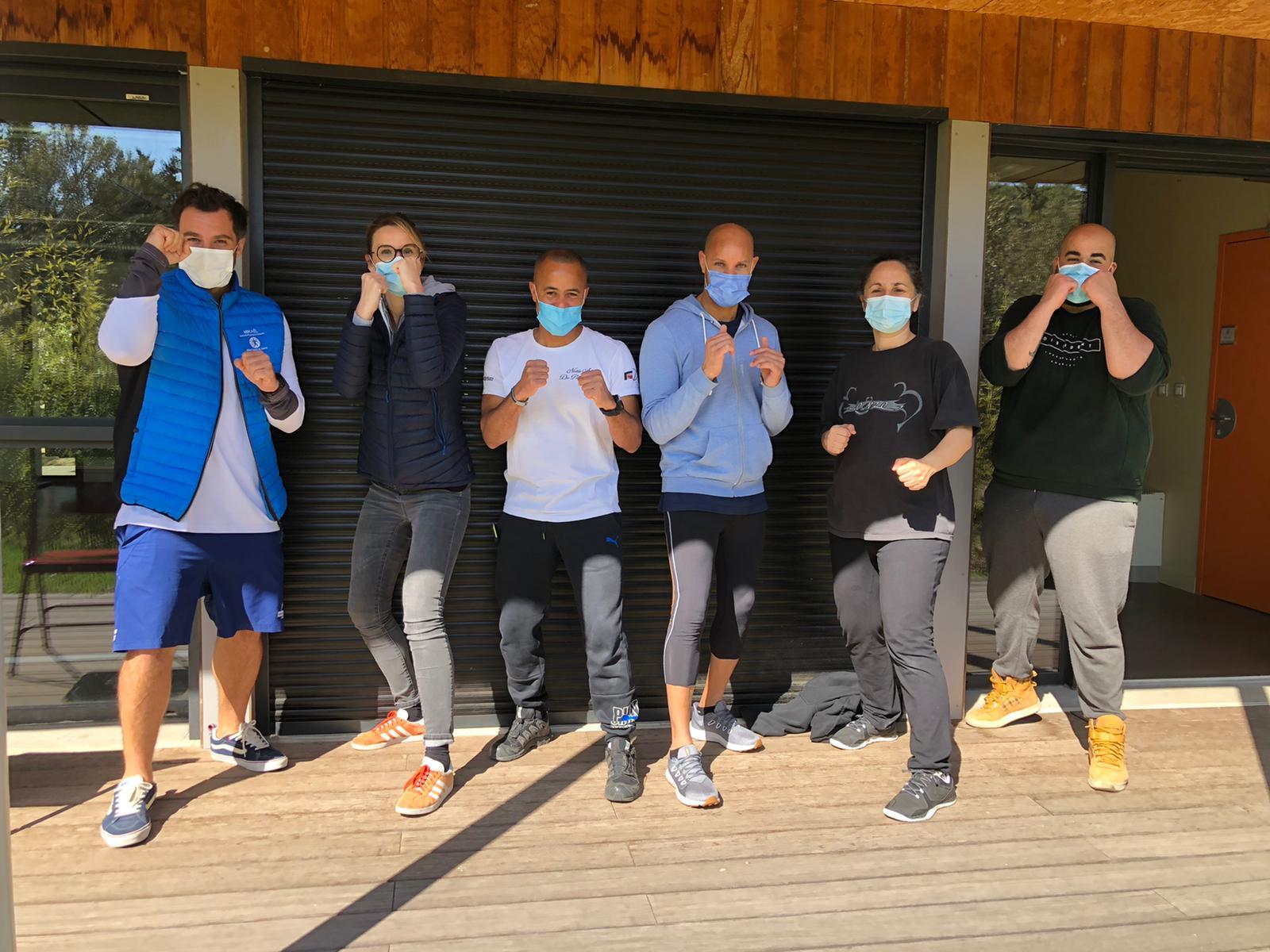Photo de la journée Prescri Boxe avec toutes les équipes qui ont découvert ou fait découvrir le Sport Santé