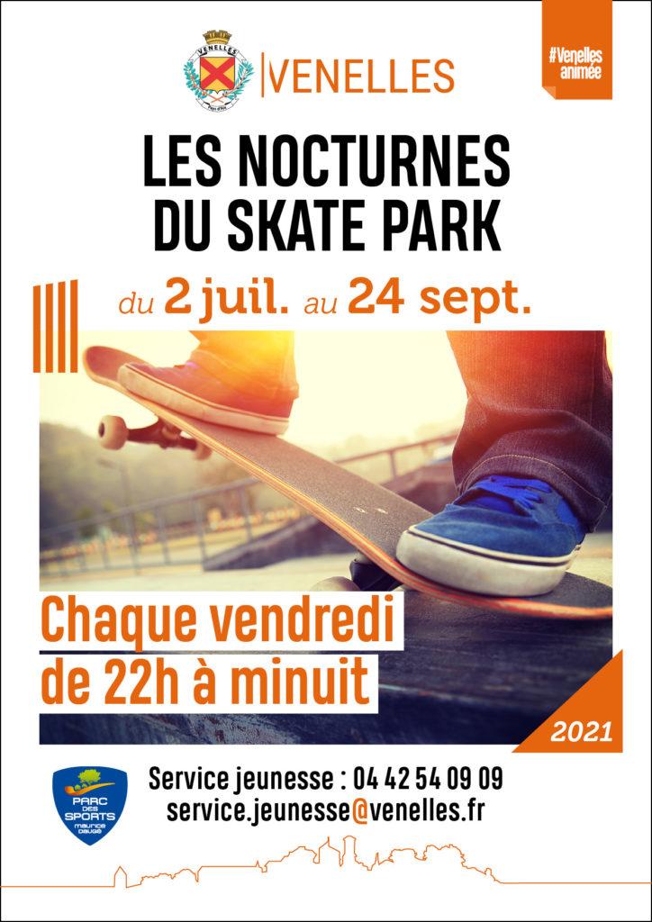 Affiche des nocturnes du skatepark