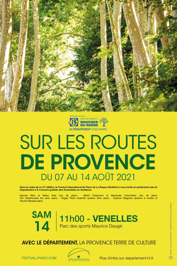 Affiche représentant un paysage de provence verdoyant