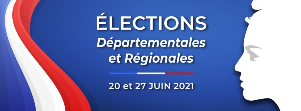 Affiche pour les élections départementales et régionales