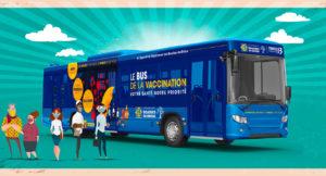 Illustration montrant le bus de la vaccination du Département des Bouches-du-Rhône