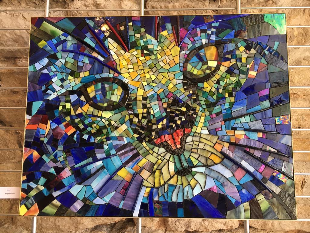 Photo d'une œuvre réalisée en mosaïque réalisée par l'atelier Mozaistik