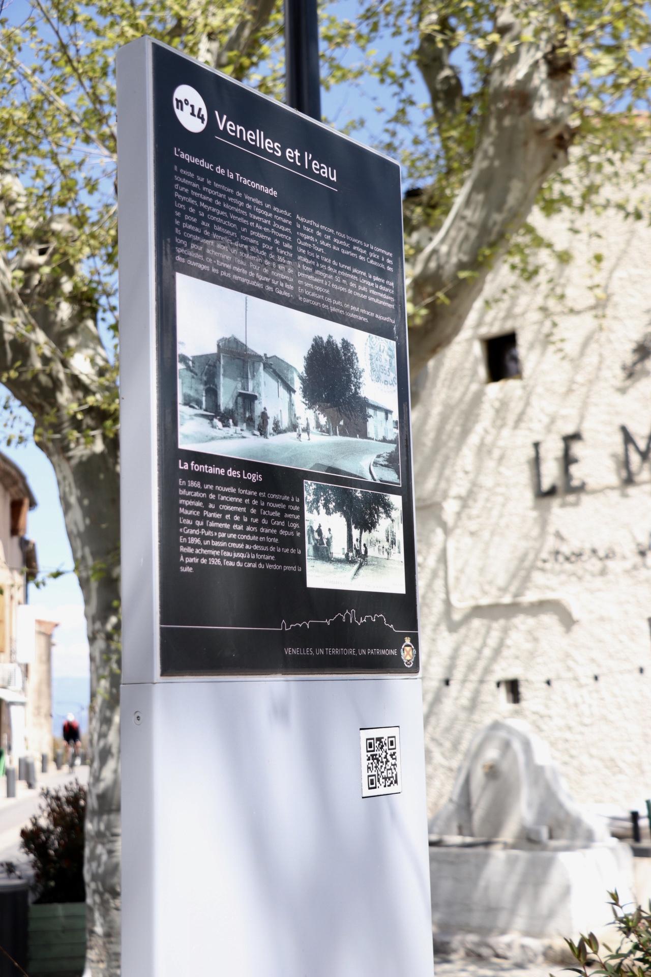 Photo d'une plaque du circuit du patrimoine de la ville de Venelles