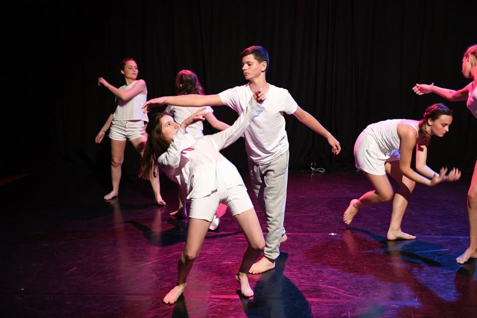 Photo montrant les danseurs de l'entrepôt sur scène lors du Festival l'Entre 2