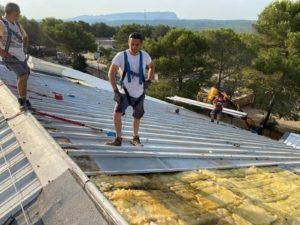 Refection de l'étanchéité du toit - halle N. Mandela