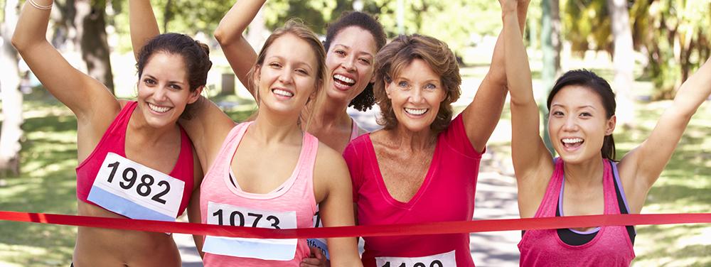 Photo de course féminine caritative