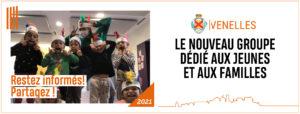 Affiche du nouveau groupe Facebook de la ville de Venelles dédié aux jeunes et aux familles