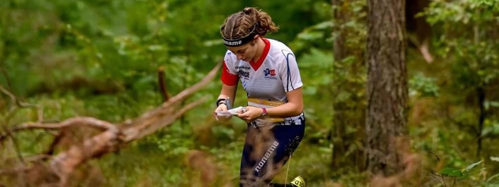 Photo d'Annabelle Delenne en pleine course lors des championnats d'Europe à Vilnius