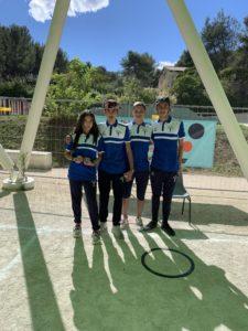 Photo de l'équipe junior de la boule Venelloise, championne départementale mixte