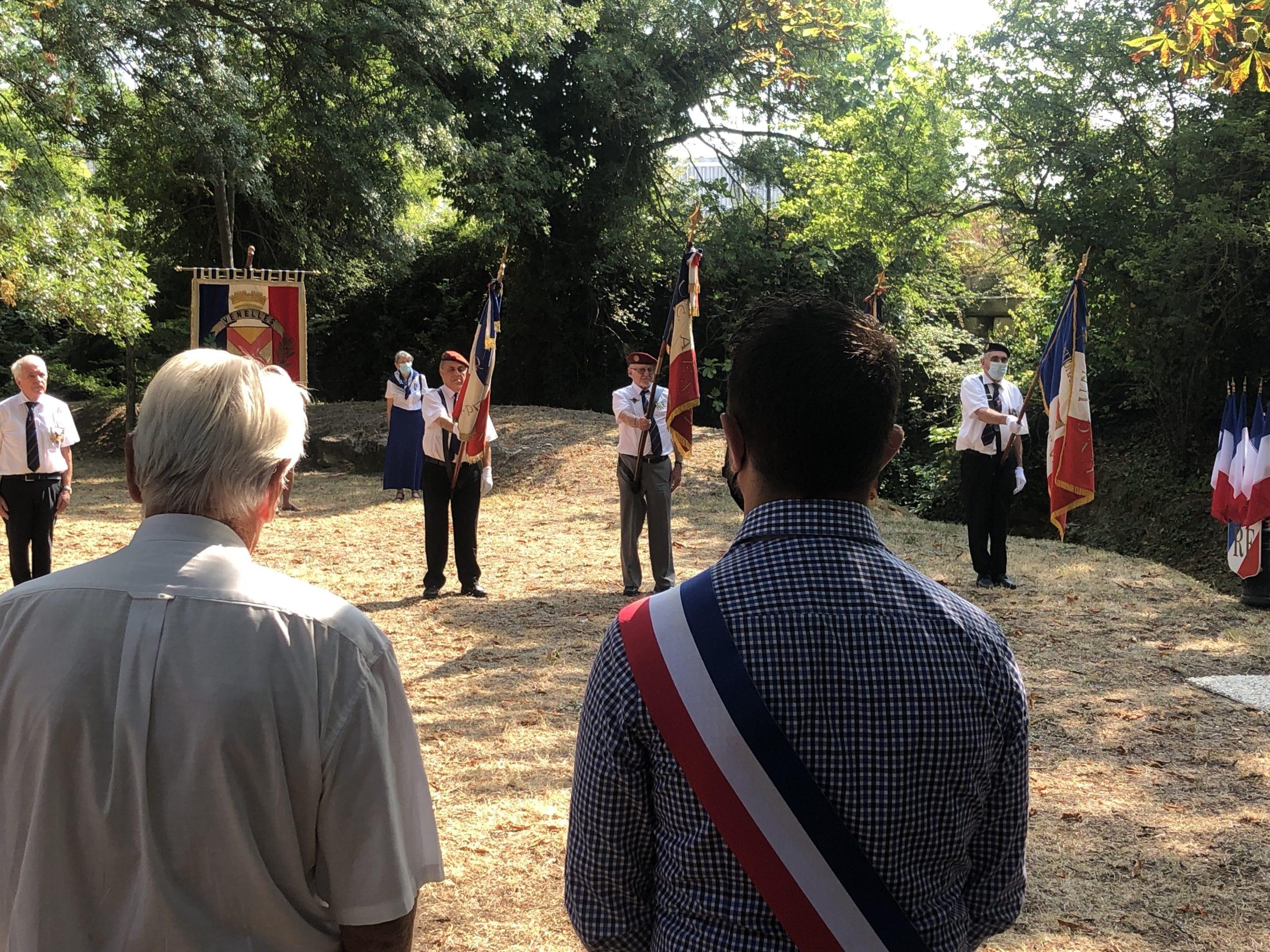 Photo de la commémoration de la libération du Pays d'Aix le 22 août