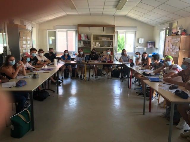 Photo de la formation BAFA organisée par le service jeunesse