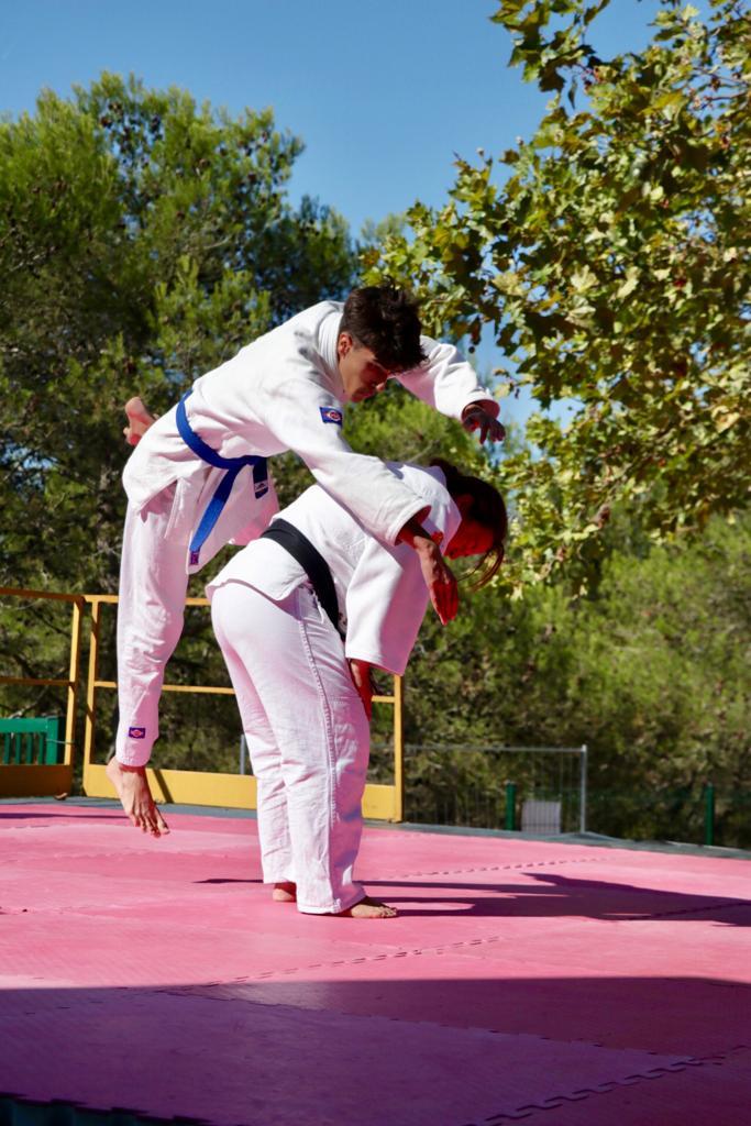 Photo montrant le judo sur scène lors d'une démonstration au Forum des associations