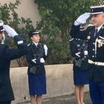 Photo du Major Maisto lors de sa prise de commandement à la Gendarmerie de Venelles