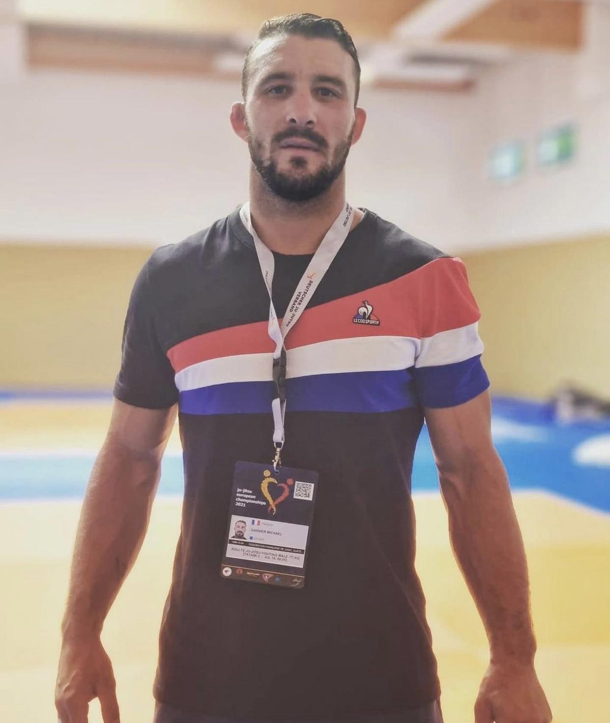 Photo de Mickael Garnier, médaillé aux championnats d'Europe