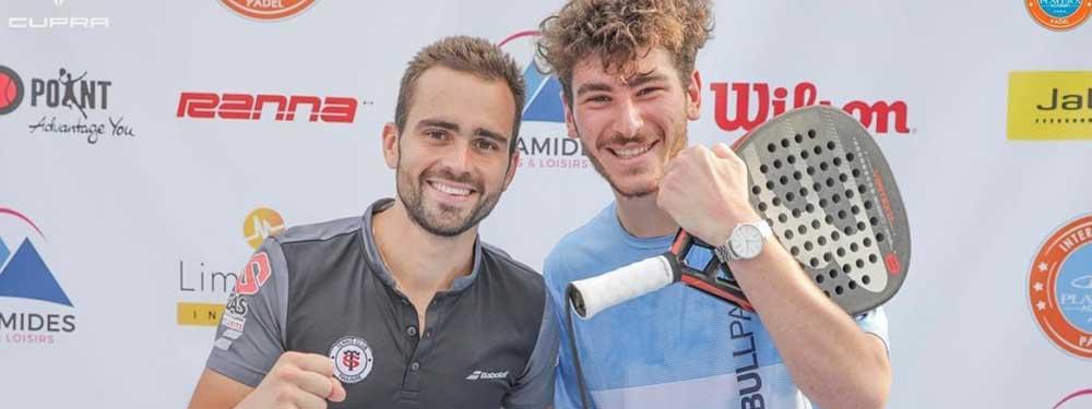 Thomas Leygues et Bastien Blanqué victorieux au tournoi de padel P2000 Pyramides