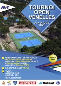 Affiche tournoi de tennis Open Venelles