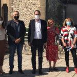 Photo de la visite du jury Label Ville fleurie