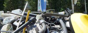 Photo de déchets jetés à la déchèterie