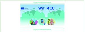 Illustration montrant le portail d'accès WIFI4EU